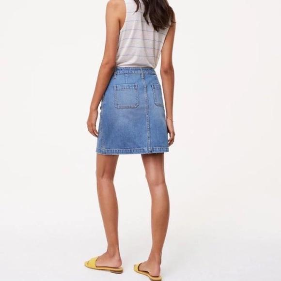 4216722d17 LOFT Skirts | Nwt 50 Ann Taylor Destroyed Jean Denim Skirt | Poshmark
